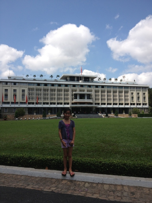 Reunification Palace in Saigon. Just in case you forget who reunified this mofo, there are several North Vietnamese tanks, Jeeps, and jets from the war parked just to the right of this photo.