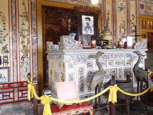 Outer room of Khai Dinh's tomb. His actual tomb is behind this room, but they don't allow you to photograph it.